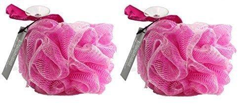 hydrea-large-exfoliating-body-puff-scrunchie-buffer-bath-shower-twin-pack-pink
