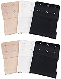 Gankarii 6pcs Women Soft Comfortable Bra 2 Hooks / 3 Hooks / 4 Hooks Extender
