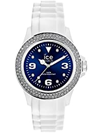 Ice-Watch - ICE star White Blue - Weiße Damenuhr mit Silikonarmband - 013747 (Medium)