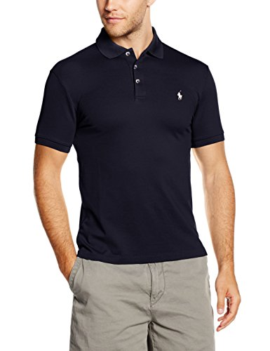 Ralph Lauren Herren SS KC SLFIT MDL 1 Poloshirt, Blau (French Navy A4560), Medium