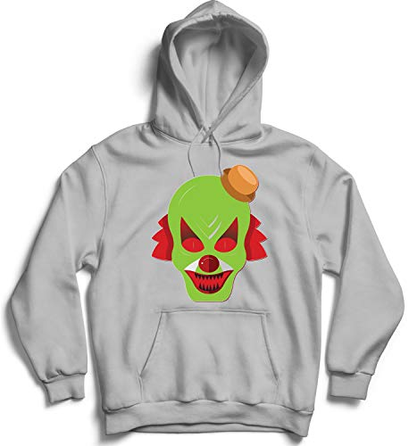 Halloween Scary Clowns Monsters_006240 Hooded Pullover Unisex SM Black Hoodie