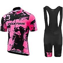 Uglyfrog #N01 Bike Wear Ciclismo Mujers Maillots Sports+Bib Tight Sets Seco y transpirable de Bicicleta Conjunto de Ropa de Ciclo Jersey de manga corta
