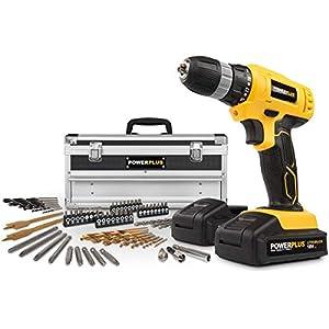 Powerplus POWX0026LI Drill ohne Schlüssel, Schwarz, Gelb 1500 U/min