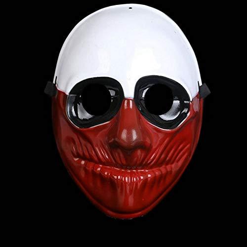 QWW Böser Clown Gesichtsmaske Horrorclown Maske Killerclown Vollmaske Gruselclown Halloweenmaske Clownsmaske Clownkostüm - Horrorclown Kostüme
