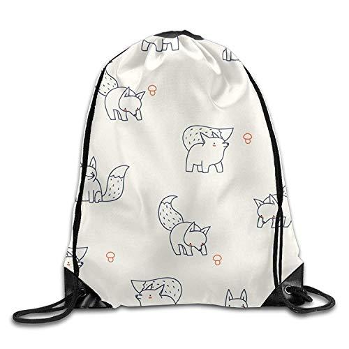 Etryrt Turnbeutel/Bedruckte Sportbeutel, Premium Drawstring Gym Bag, Drawstring Bags Gym Bag Travel Backpack, Cute Animal Print Fox, Small Backpacks for Boys Girls (Ventilator Fox)