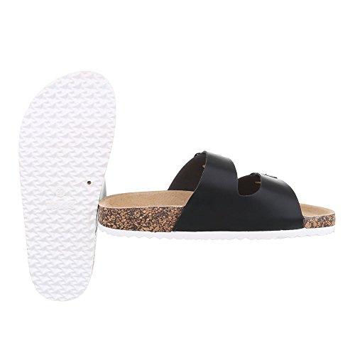 Pantoletten Damenschuhe Jazz & Modern Leichte Ital-Design Sandalen / Sandaletten Schwarz