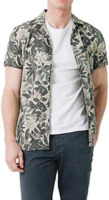 Scalpers Hawaiian SS Shirt - Camisa para Hombre, Talla , Color  Militar