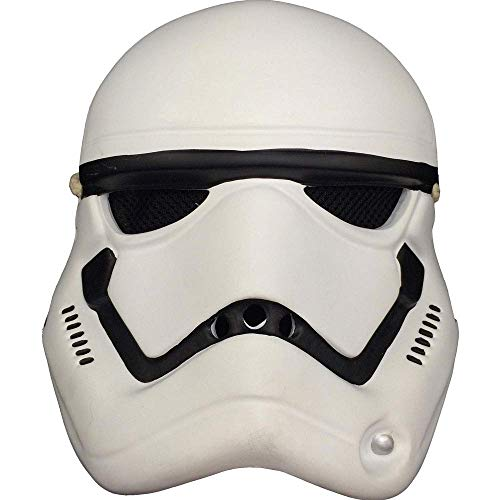 YaPin Halloween Adult Kostüm Ball Requisiten Harz Star Wars Maske Horror Schwarz Samurai Maske Weiß Soldat - Star Wars Requisiten Kostüm