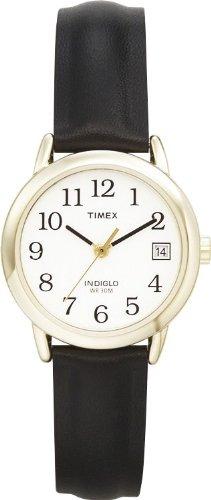 Timex Damen-Armbanduhr Schwarz Leder T2H341D7 (Timex-easy-reader-schwarz-leder)
