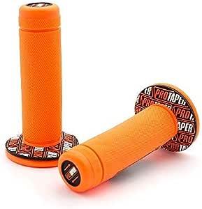 Motorrad Protaper Grips Motocross Grip Lenker Dirt Pit Bike 7 8 Lenker Gummi Gel Dual Density Mx Grips Cyclist Store Farbe Orange Auto