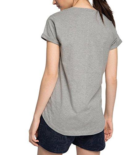 Esprit Sports 016ei1k036 - Baumwoll T-shirt Print And Pailetten Sportiv - T-shirt de sport - Femme Gris - Grau (LIGHT GREY 2 041)