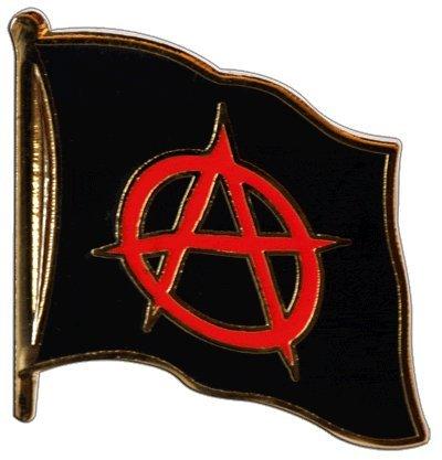 Digni Pin's (épinglette) Drapeau Anarchie - 2 x 2 cm