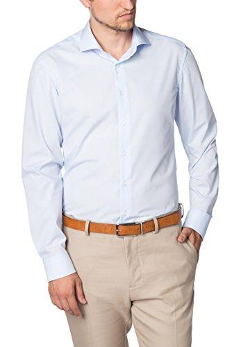 Seidensticker Slim Langarm Mit Kent Kragen Bügelfrei, Camisa de Oficina Para Hombre, Azul (Hellblau 12), 46 amazon el-azul Primavera/Verano