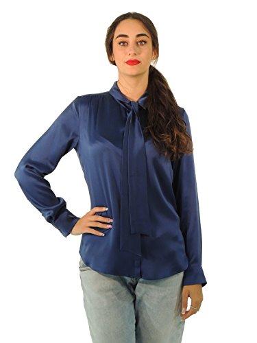 max-mara-damen-bluse-einfarbig-blau-kornblumenblau-38