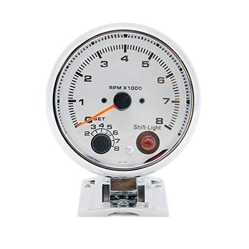 Generp Motorrad-Tachometer, galvanisierte Schale, bunt, modifizierte Geschwindigkeit und Kilometerzähleranzeige, Motorrad Tachometer