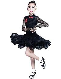 YONGMEI Traje de Baile - Traje de Baile Latino para niños Concurso de  Vestimenta Profesional Vestido 67b898b96f82c