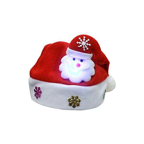 SuperSU Weihnachten ➱➲ 3 Stücke Glanz Weihnachtsmütze Nikolausmütze Weihnachtsdeko Xmas Party Deko für Kinder Erwachsene Weihnachtsmann Kostüm (Schneemann Weihnachtsmann - Rose Und Jack Kostüm