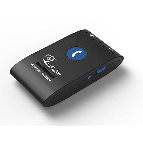 Veopulse Kit main libre VeoPulse Bluetooth V4.0 Voiture à mettre sur Pare-Soleil de Votre Auto