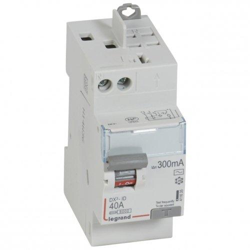 LEGRAND - INTER DIFFERENCIEL DX3-ID LEGRAND - LEG-DX3-ID - AC  MONO-230V  40A  300MA  HAUT  135 60