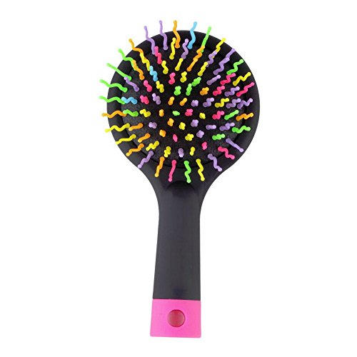 Homeoculture Magic Hair Comb Brush Rainbow Volume Styling Tools Anti Tangle Anti-static Head Massager Hairbrush With Mirror  available at amazon for Rs.279