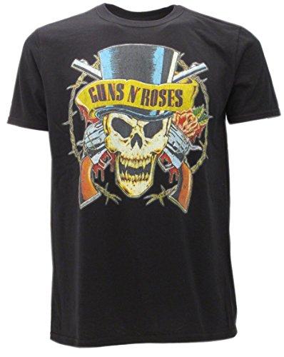 t-shirt NERA GUNS N' ROSES TESCHIO-SKULL maglietta originale -spedita da T-shirteria- XS S M L XL