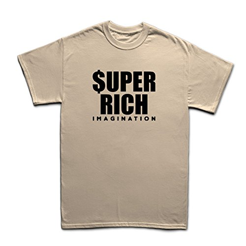 Super Rich Funny T-Shirt Beige