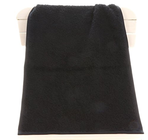 TowelsRus Aztex Deluxe Sports Gym Towel, Black, 500gsm, 30cm x 90cm, 100% Cotton by Towelsrus