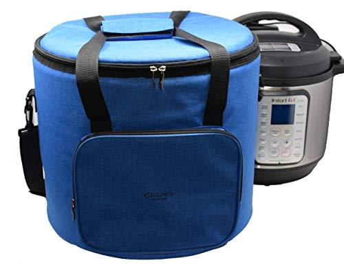 Chloe's Home Reisetasche für Sofort-Topf - vielseitige Tragetasche für kleine Geräte und mehr mit Tragegurt, Griffen und Außentasche mit Reißverschluss - Sofort-Top-Zubehör für Reisen, königsblau, 8QT (Edelstahl-quart-pfanne)