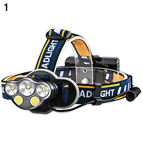 Ebestus T6 Lampade da Testa Torcia Frontale, Lampada Frontale LED COB Alto Luminosità Proiettore Auto Riparazione Campeggio Escursionismo Capo Indossare Lampada - 1