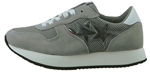 Tommy Jeans Hilfiger Denim Star Sneaker, Sneakers Basses Femme Gris (Light Grey 004)