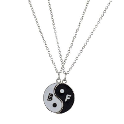 Lux Accessories - Collar con colgante para mejores amigos, diseño de Yin Yang