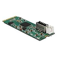 DeLOCK 63998 Carte et Adaptateur d'interfaces Interne USB 3.1 - Cartes et adaptateurs d'interfaces (PCIe, USB 3.1, Asmedia ASM2142, 10 Gbit/s, Taiwan, 15 W)