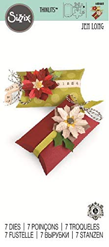 Sizzix Bigz Pro Fustella, Box Pillow & Poinsettias - 3
