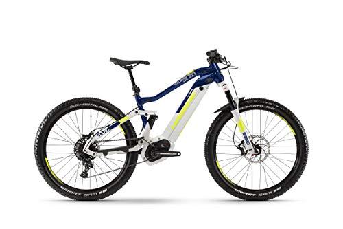 Haibike Sduro FullSeven Life 7.0 - Bicicleta eléctrica de montaña para Mujer (27,5 Pulgadas, Talla XL), Color Gris, Azul y Amarillo