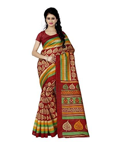 Trendz Style Bhagalpuri Silk Saree(TZ_1090_D)  available at amazon for Rs.449