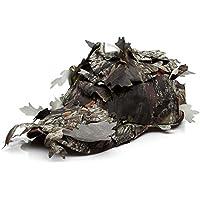 RUNGAO - Sombrero de Pesca para Camuflaje al Aire Libre Bionic Camuflaje montañismo Capuchón Jungle Safari 3D, Hojas de Leafy Woodland Protección Solar para Hombres y Mujeres