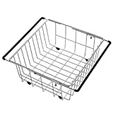 WYQ Geschirrkorb für geschirrspüler Skalierbares Geschirrtrocknergestell im Spülbecken, im Metallgeschirrgestell, im Gemüse und in den Früchten kann in den Health Sink Basket gelegt Werden