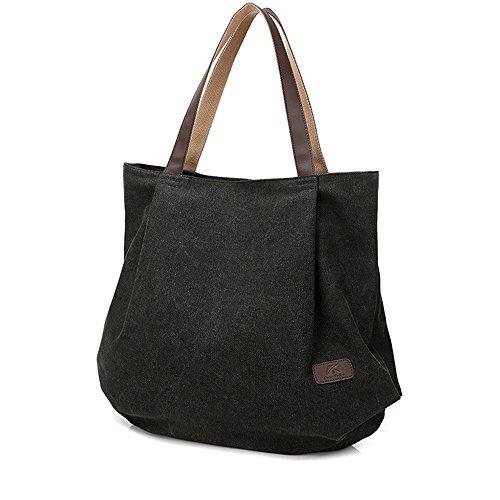 Lienzo Tote Bolsa Para La escuela Trabajo Viajes Y Shopping Simple Vintage Bolso de mano Bolsa de...