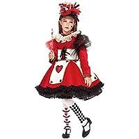 Costume di Carnevale da Regina di Cuori Prestige Ragazza Vestito per  Ragazza Bambina 7-10 ba9d8749a2f