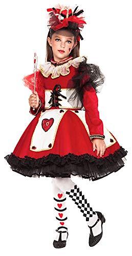Costume di Carnevale da Regina di Cuori Prestige Ragazza Vestito per  Ragazza Bambina 7-10 ba98df16ebc