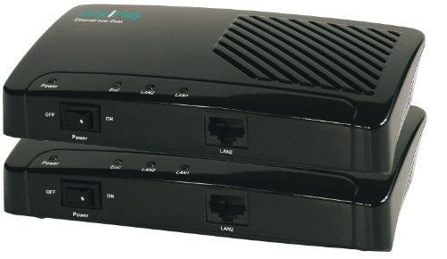 Axing EOC 1-00 Ethernet over Coax Netzwerk via Koaxialkabel Starter-Set (500Mbps, 2 Stück)