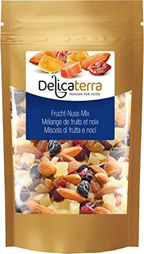 Exotische Frucht-mischung (Delicaterra Frucht-Nuss-Mix Trockenfruchtmischung (Cranberries, Papaya, Mango) mit Mandeln, 1 kg)
