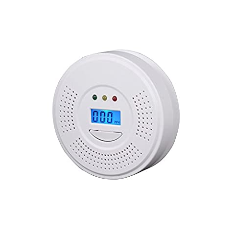 ParaCity CO Alarm Carbon Monoxide Detector with LCD Digital Display