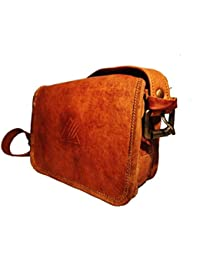 Psyclone Handmade Leather Crossbody Messenger Sling Bag For Men And Woman