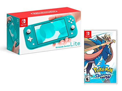 Nintendo Switch Lite 32Gb Türkis-Blau pack + Pokémon Schwert