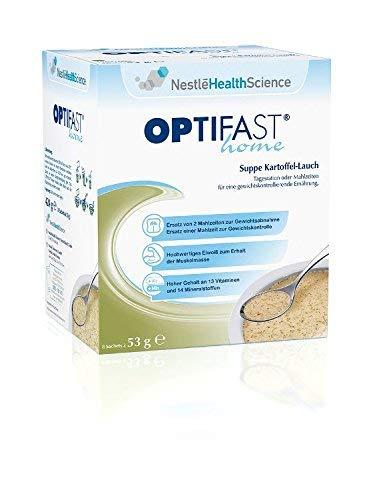 OPTIFAST home von Nestlé Health Science - Suppe Kartoffel-Lauch, (8 x 53g) Päckchen (Deutsche Kartoffel-suppe)