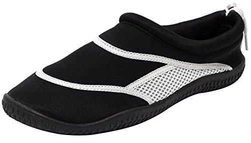 Herren Aquaschuhe Badeschuhe Schwimmschuhe Beachschuhe Surfschuhe Wassersport Surfen Wasserschuhe Strandschuhe schwarz grau Gr. 41/42