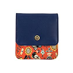 Chumbak Garden Tea Party Pocket Wallet- Orange
