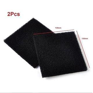 2x Universal Black Activated Carbon Foam Sponge Air Impregnated Sheet Filter Pad
