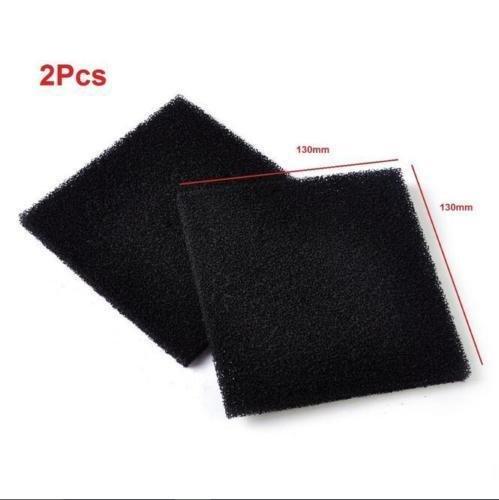 2 x universel Noir en mousse de charbon actif Air imprégné Sheet filtre Pad